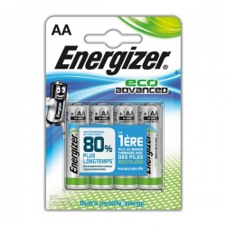 Pack de 4 piles AA | 1,5 Volt - ENERGIZER Eco Advanced