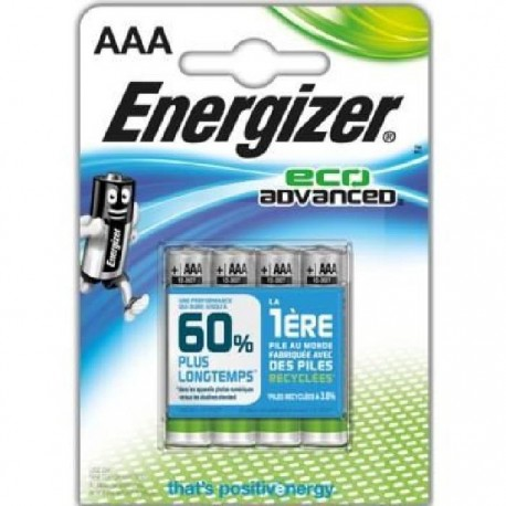 Pack de 4 piles AAA | 1,5 Volt - ENERGIZER Eco Advanced
