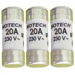 Boite de 3 cartouches fusibles (avec témoin) 25A Gg 10,3x31,5 mm ZENITECH