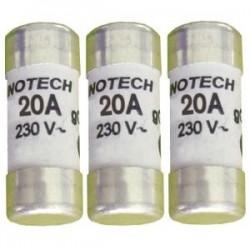 Boite de 3 cartouches fusibles (avec témoin) 32A Gg 10x38 mm ZENITECH