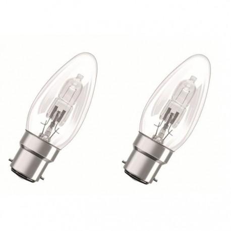 Pack de 2 ampoules éco halogènes B22 30 Watts - OSRAM