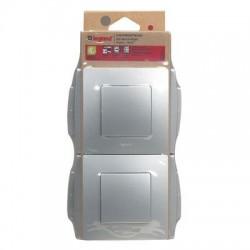 Pack de 6 interrupteurs va et vient argent Niloé - LEGRAND.