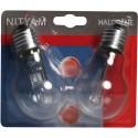 Pack de 2 ampoules éco-halogènes E27 105 Watts 230 Volts - NITYAM 305