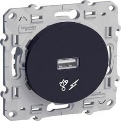 Prise USB anthracite (couleur noir) Odace - SCHNEIDER ELECTRIC