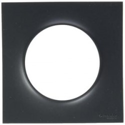Plaque 1 poste anthracite (couleur noir) Odace - SCHNEIDER ELECTRIC