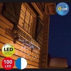 Bannière lumineuse de Noël 1 x 2 mètres 100 LED blanches et bleues