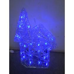 Maison lumineuse de Noël 37x20 cm 30 LED bleues