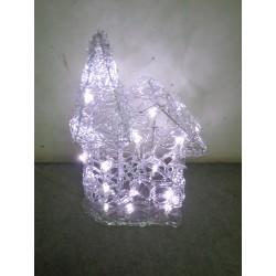 Maison lumineuse de Noël 37x20 cm 30 LED blanches