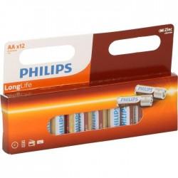 Pack de 12 piles AA | 1,5 Volt - PHILIPS