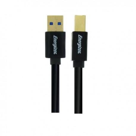 Câble USB A mâle / USB B mâle 3.0 3 mètres - ENERGIZER
